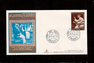 Vatican 1966 Souvenir Cover, Visit Of His Grace The Archbishop Of Canterbury !!!