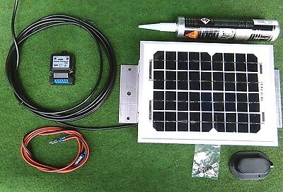 5w 5 watt solar panel and full roof fitting kit suit camper van motorhome shed