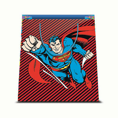 ★1 Busta In Carta Cartoncino Plastificato Shopper Dc Comics Superman 2 31,5X45★