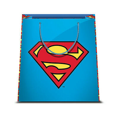 ★1 Busta In Carta Cartoncino Plastificato Shopper Dc Comics Superman 1 31,5X45★