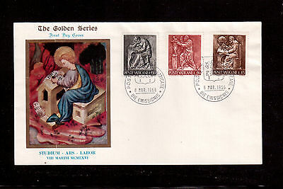 VATICAN 1966 FIRST DAY COVER with #425/27/32, ARTS AND CRAFTS !!