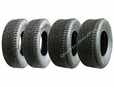 Set of 4 - 25x8.00-12 & 25x10.00-12 ATV quad tyres - wanda road legal tyre