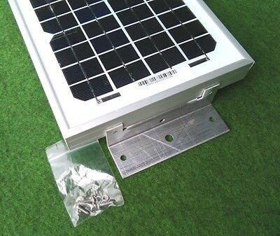 5w 5 watt solar panel + bracket kit suit camper van motorhome caravan beach hut