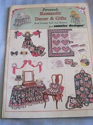 DOLL PATTERN BOOK  Romantic Decor & Gifts Full Size Patterns Sunrise 1994 EZ NM