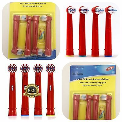 Pack of 4 Kids Electric Toothbrush Heads for Children Standard for Oral B New