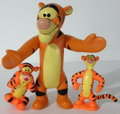 "3 Collectible Disney Winnie The Pooh ""Tigger"" Vinyl Figures"