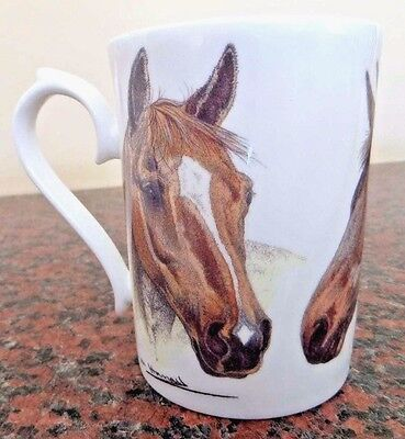 Roy Kirkham Bone China Mug ~ Horses 2006 Design - pottery