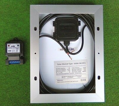 5w 5 watt solar panel + regulator suit camper van motorhome caravan beach hut