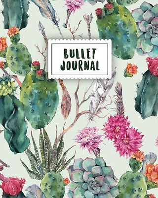 Bullet Journal: Beautiful Cactus | 150 Dot Grid Pages (size 8x10 inches) | with