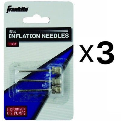 Franklin Sports Metal Inflating Needles Heavy Duty 3 Pc For Ball Pump (3-Pack)