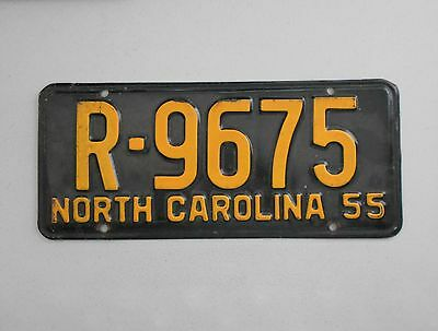 1955 North Carolina License Plate Vintage Antique Ford Chevy Dodge