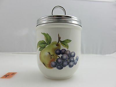 WEDGWOOD FRUIT SPRAYS Double Egg Coddler Cup Pear Grapes Vintage Made In England