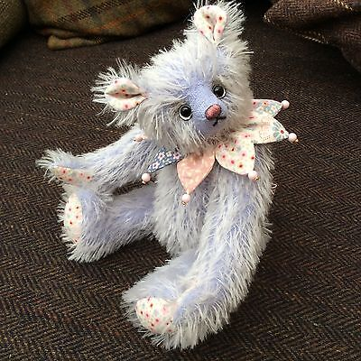 "🐻Mohair Bear ""Bluebelle"" Handmade In UK🇬🇧"