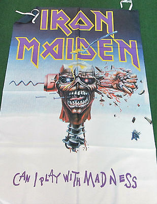 Iron Maiden Texile Poster Flag  Rare New Never Openedcan I Play With Madness