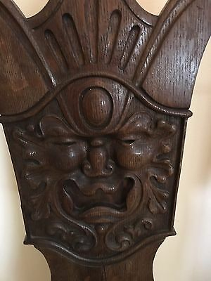 Vintage Carved Face High Back Chair