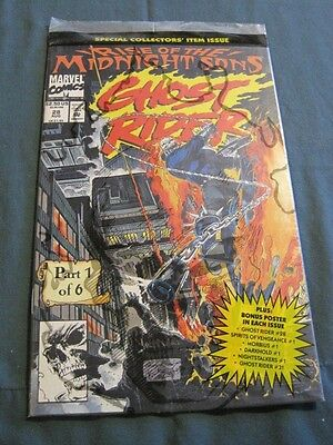 GHOST RIDER Marvel comic Rise of the Midnight Sons No. 28 Aug. 1992 Mint Sealed