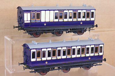 LAWRENCE SCALE MODELS O GAUGE KIT BUILT FURNESS RAILWAY FR 6 WHEEL COACH RAKE nk