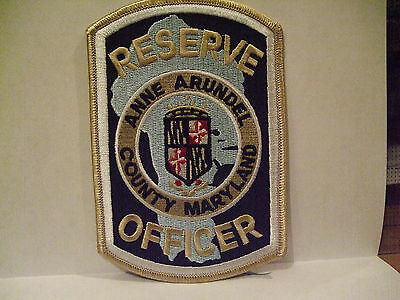 police patch  ANN ARUNDEL COUNTY POLICE MARYLAND  RESERVE OFFICER
