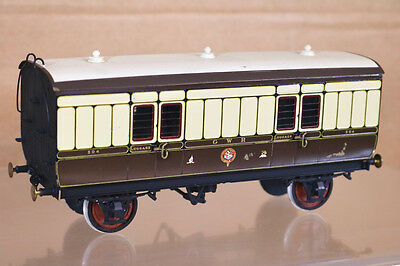 LAWRENCE SCALE MODELS O GAUGE KIT BUILT GW GWR 4 WHEEL LUGGAGE VAN COACH 504 nk
