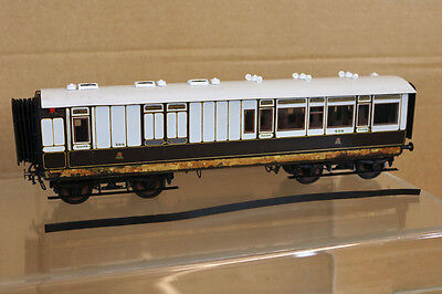 LAWRENCE SCALE MODELS O GAUGE KIT BUILT L&NWR 3rd CLASS BRAKE COACH 502 nk