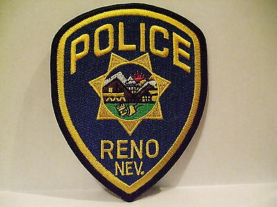 police patch  RENO POLICE NEVADA THIN LETTERS FULL COLOR CREST
