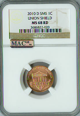 2010-D LINCOLN CENT NGC MAC MS68 SMS RED PQ 2nd FINEST GRADE SPOTLESS .