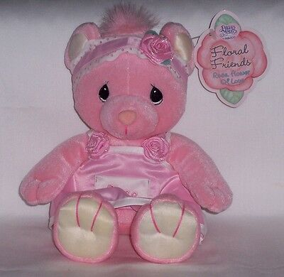 "New 2001 Precious Moments Bear Floral Friends  Rose, ""Flower of Love"""