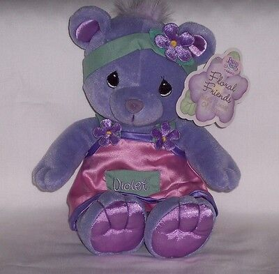 "New 2001 Precious Moments Bear Floral Friends Violet, ""Flower of Hope"""