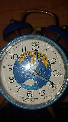 Cinderella mechanical alarm clock, 1970's, runs (mostly )with real bells