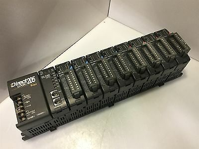 DirectLogic DL205 PLC System 9-Slot Rack w/DL240 CPU, 4-Sink & 4-Source Modules