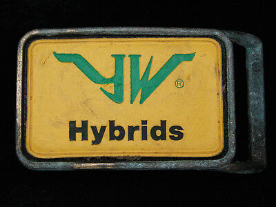 QF01150 VINTAGE 1970s **YW HYBRIDS** FARMING & AGRICULTURE COMPANY BELT BUCKLE