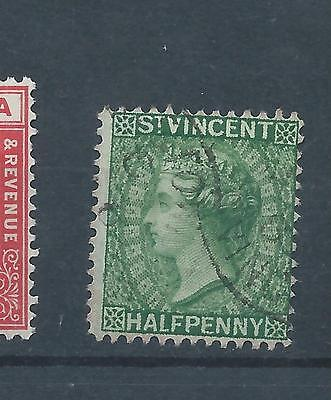 St Vincent stamp. 1883 1/2d Queen Victoria used. (X059)