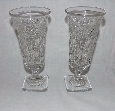 """(Set of 2) Imperial Cape Cod 7"""" Tall Footed BUD VASES"""
