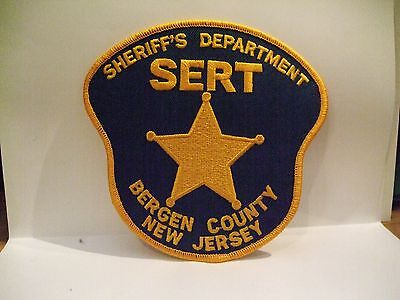 police patch  BERGEN COUNTY SHERIFF S E R T  NEW JERSEY