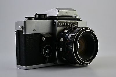 VINTAGE  EXAKTA RTL 1000 Camera With PENTACON auto 1.8/50 DDR