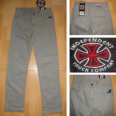 INDEPENDENT - Rage 307-81.3cm taille - Skateboard Hose - Smoke / Jeans