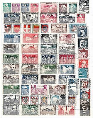 France Mint Lot Of 124 Different Stamps F/vf Hinged 1948 To 1954 Scott $194.50 !