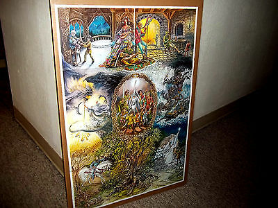 LORD OF THE RINGS, THE HOBBIT 1978 poster. Near mint shape. Judy King Rieniets.
