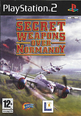 SECRET WEAPONS OVER NORMANDY for Playstation 2 PS2 - with box & manual - PAL