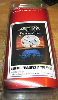 Anthrax Texile Poster Flag  Rare New Never Opened Persistence In Time