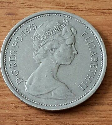 1975 5 pence coin