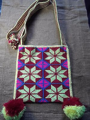 Morning Star Huichol Bag - Yellow/Red/Pink/Blue