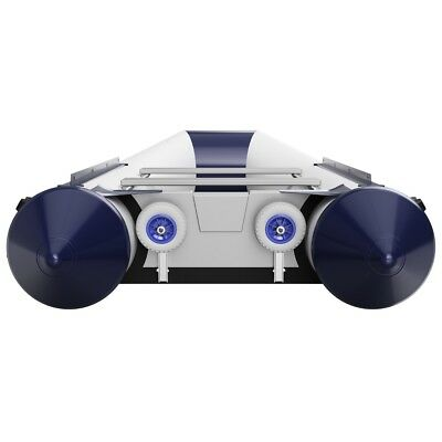 Dinghy Boat Launching Wheels, Stainless Steel V2A, SUPROD HD200 gray/blue