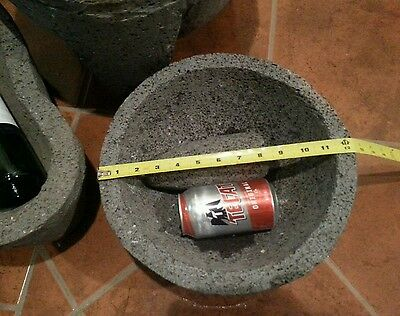 Jumbo Molcajete Authentic Mexican Volcanic Rock Stone Mortar & Pestle Guacamole