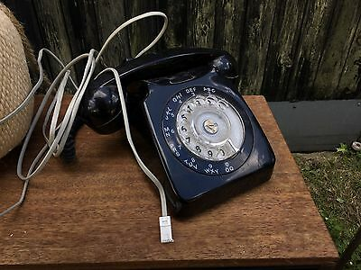 Vintage Retro Rotary Dial Working GPO Black Telephone