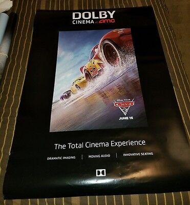 Cars 3 2017 Dolby Cinema AMC Exclusive 27x40 Movie Poster