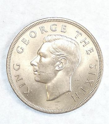 1949 NEW ZEALAND George VI Silver Crown Choice BRILLIANT UNCIRCULATED