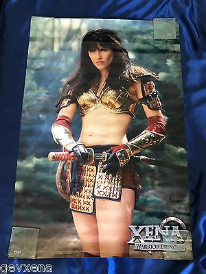 """RARE OFFICIAL Xena/Hercules Catalog Xena """"Friend In Need"""" Glossy Poster 24x36"""