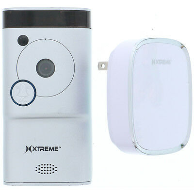 Xtreme Connected Home WiFi Smart Video Doorbell Camera With Chime (Silver)