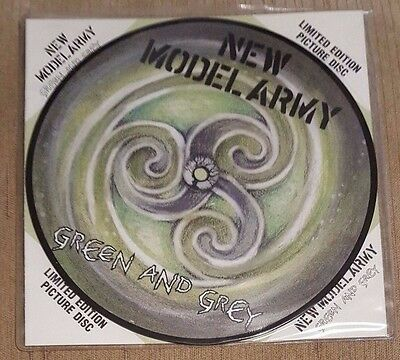 """NEW MODEL ARMY - Green And Grey ~7"""" Vinyl Single~ *PICTURE DISC*"""